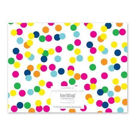Confetti Note Card