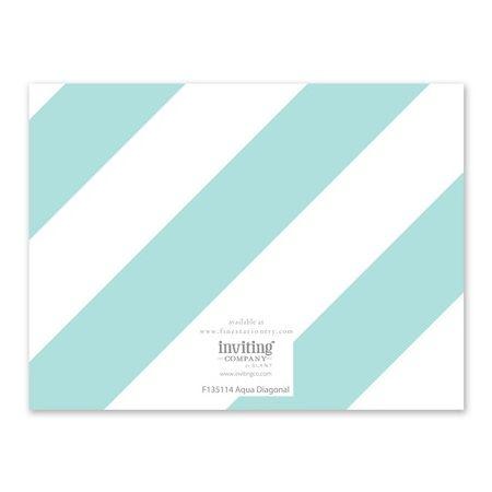 Aqua Stripe Note Card