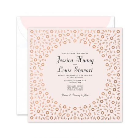 Pink Posie Invitation