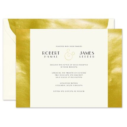 Gold Sidebar Invitation