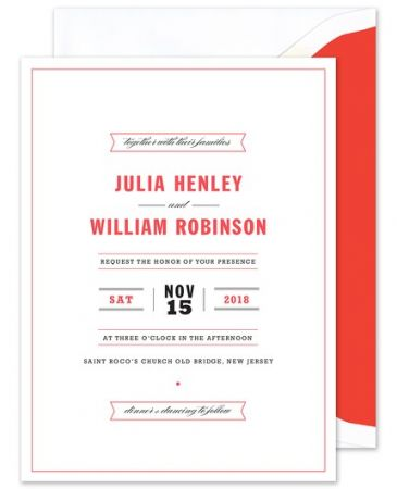 Red Banner Invitation