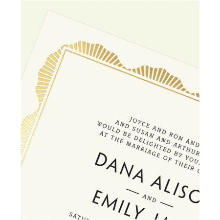 Ecru Art Deco Invitation
