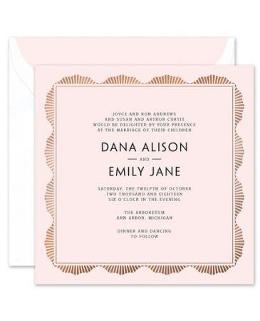 Pink Art Deco Invitation