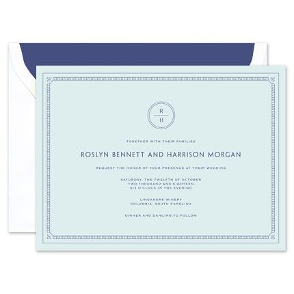 Blue Frame Invitation