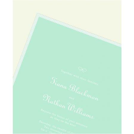Sea Glass Stripe Invitation