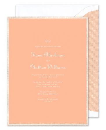Peach Stripe Invitation
