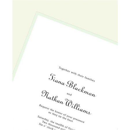 Pale Jade Border Invitation