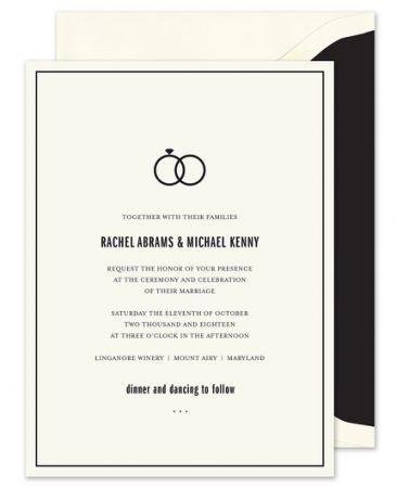 Ecru Union Invitation