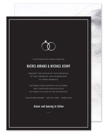 Entwined Rings Invitation