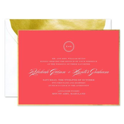 Gold Edge Invitation