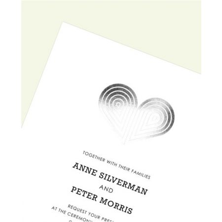 Silver Deco Heart Invitation