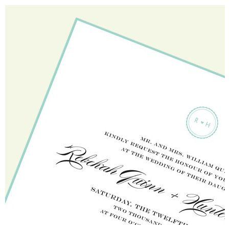 Sea Glass Border Invitation