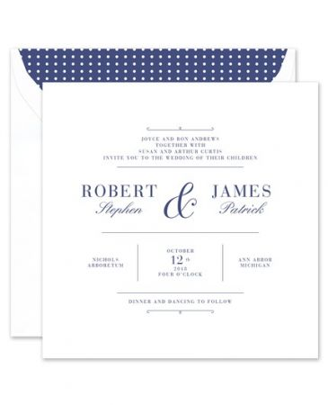 White Square Invitation