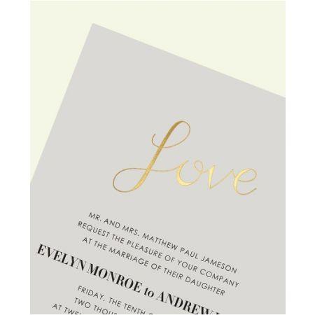 Love on Gray Invitation