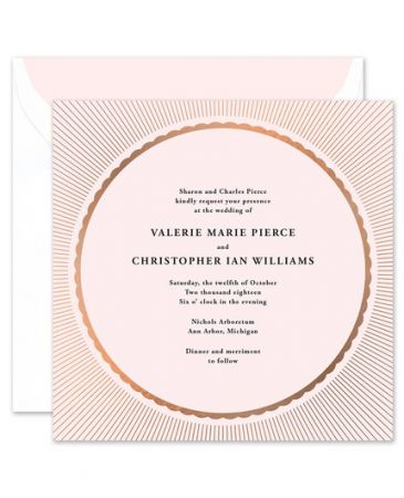 Radiant Pink Invitation