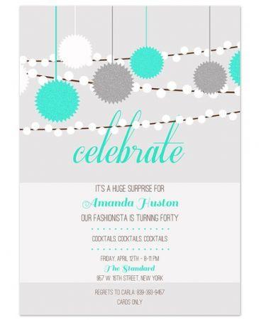 Celebration Light Invitation