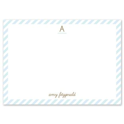 Blue Stripe Flat Card