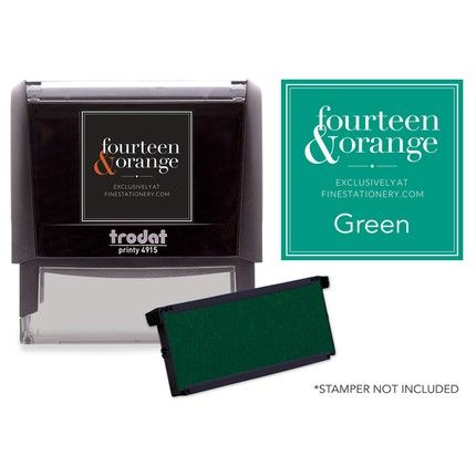 Rectangle Green Ink Refill