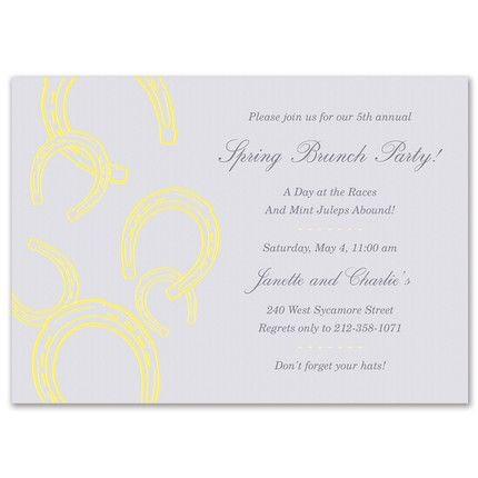 Yellow Horseshoe Invitation