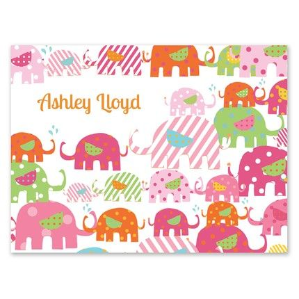 Pink Elephant Note Card