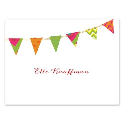 Patterned Banner Note Card