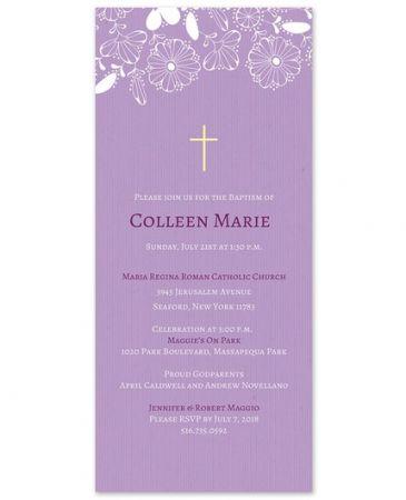 Lavender Flower Invitation