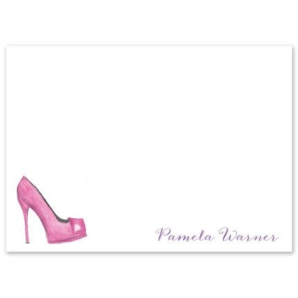 Pink Pump Flat Card