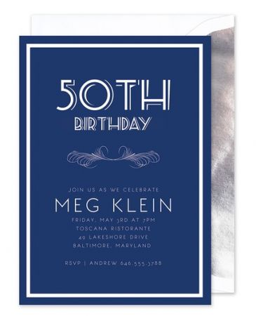 Navy Birthday Invitation