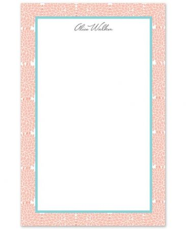Pink Hydrangea Note Pad