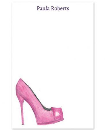 Pink Pump Note Pad