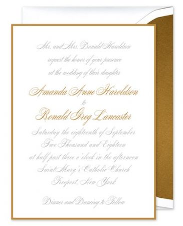 Gold Border Invitation