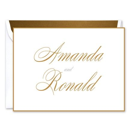 Gold Border Note Card