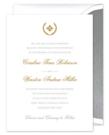 Iconic White Invitation