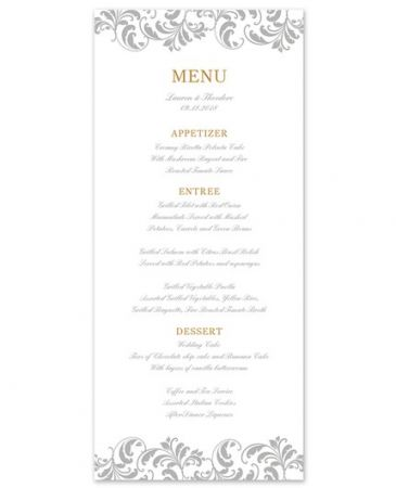 Fern Menu Card
