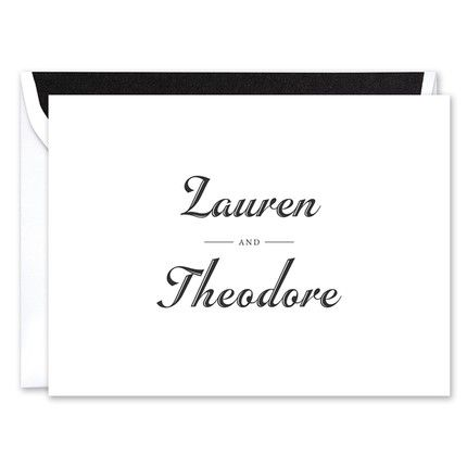 Traditional Flair Note Card