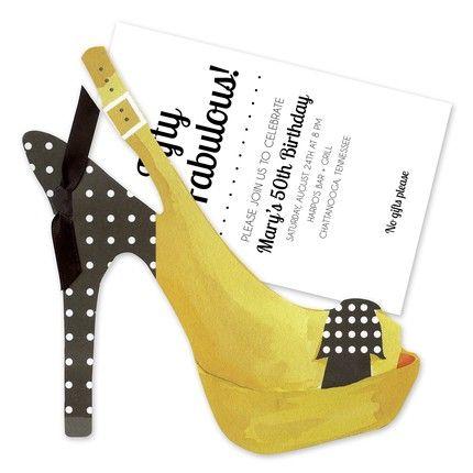 Jimmie Shoe Invitation
