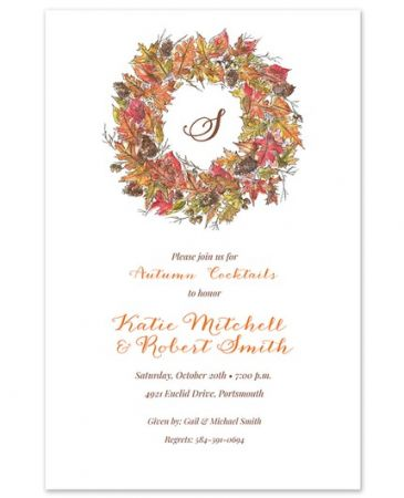 Rustic Wreath Invitation