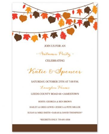 Leaf Lines Invitation