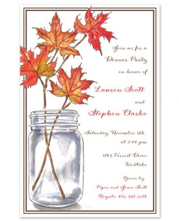 Leaf Branches Invitation