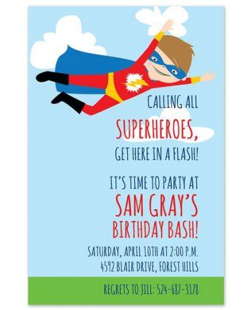 Caped Hero Invitation