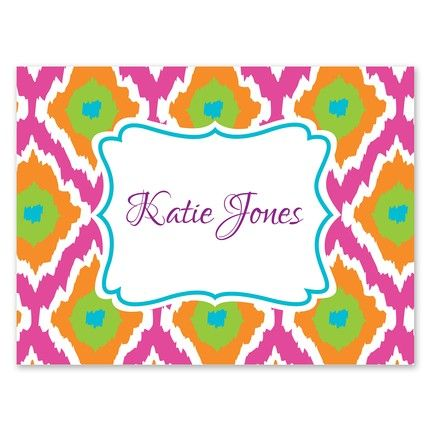Bright Ikat Note Card