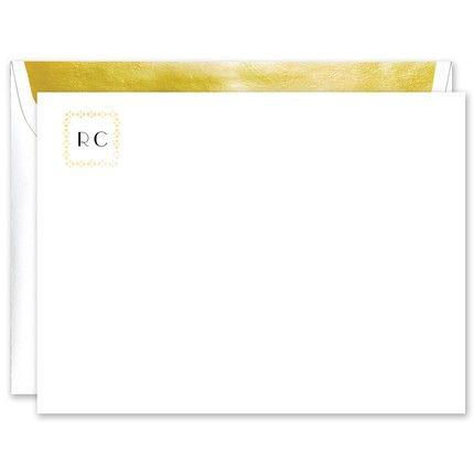 Gold Foil Squared Flat Card