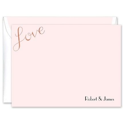 Rosy Love Foil Flat Card