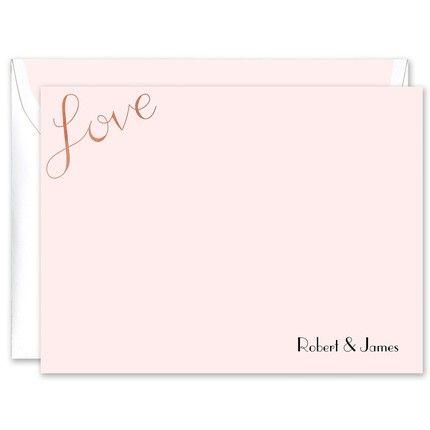 Rosy Love Foil Flat Card