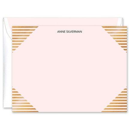 Linear Gold Foil Flat Card