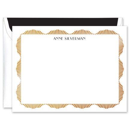 Ornate Gold Foil Flat Card