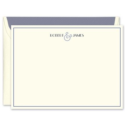 Navy Ampersand Flat Card