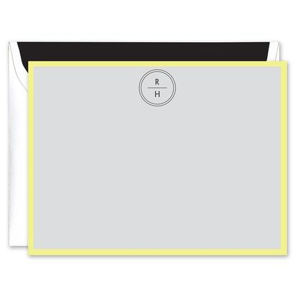 Fluoro Citron Flat Card