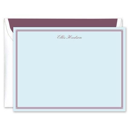 Blue & Eggplant Flat Card