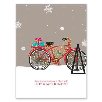 Lighted Bike Greeting Card
